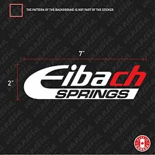 2x EIBACH SPRINGS 2 COLORS sticker vinyl decal