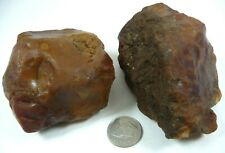 New listing Carnelian Agates Oregon 400 grams Lapidary Rough or Display 2 Piece Lot