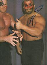 Eb1074 Road Warrior Animal signed Wrestling Magazine Poster Coa *Bonus*