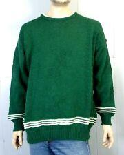 vtg It's Traditional Irish 100% Wool Crew Sweater Knit Shamrock Ireland made XXL