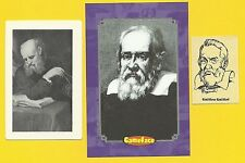 Galileo Galilei Father of Invention Italian Scientist Astronomer Fab Card LOT A