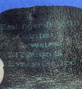 1900s Esslinger & Salm Company Jewelers EVANSVILLE INDIANA Masonic pin case