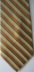 "Claiborne Men's Silk Striped Neck Tie Brown Multi3 7/8"" x 60"" Long"