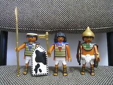 Playmobil - Egipto Roma - Trio Tres Soldados Egipcios - 7383 - (COMPLETO)