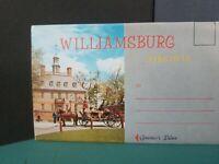 Vintage FoldOut Postcard View Book Williamsburg SOUVENIR 1960-70s #137