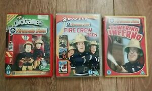5 X FIREMAN SAM DVD COLLECTION EXCELLENT CONDITION UK FREEPOST