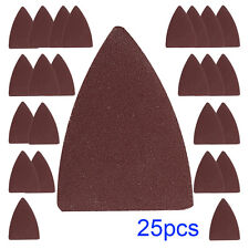 25pcs Finger Sand Paper Wood Oscillating Multi Tool for Fein ,Bosch Sanding Pad