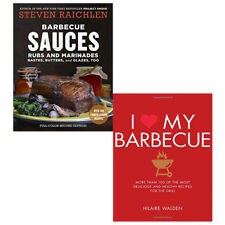 I Love My Barbecue and Barbecue Sauces, Rubs 2 Books Collection Pack Set NEW PB