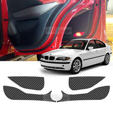 Carbon Door Decal Sticker Cover Kick Protector For BMW 3 Series 99-05 E46 Sedan