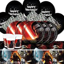 STAR Wars Forza SCALDA bambini festa di compleanno balloon Stoviglie Pack per 16