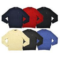 Maglione Polo Ralph Lauren Uomo Girocollo Collo Alto Zip Maglioncino Cotone
