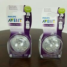 Philips Avent Natural Nipple Slow Flow 1 Month+ 2 In Each Package BPA Free