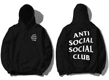 Anti Social Social Club ASSC White logo Mind Games Black Hoodie