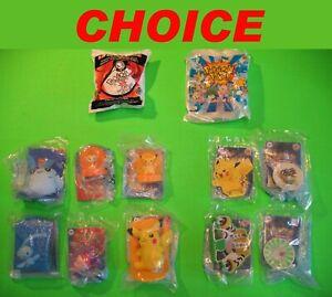 2000 2008 2009 Burger King - POKEMON - *CHOICE* *MIP* sealed cards