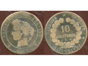 FRANCE  FRANCIA   10 centimes ceres 1873 K