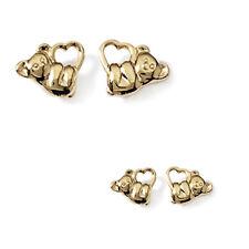 Paire de BOUCLES d'oreilles COEUR KOALA en Plaqué OR 18 carats