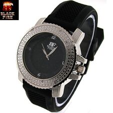 "LADIES ""BLACK FIRE WATCH"" DESIGNER STYLE ICE NATION WATCHES BRAND NEW STYLE #108"