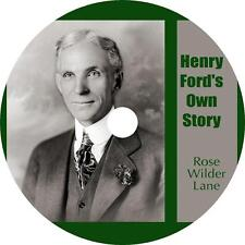 Henry Ford's Own Story, Rose Wilder Lane Biography Audiobook English on 1 MP3 CD