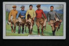 Apprentice Jockeys   Vintage 1930's  Card  # VGC