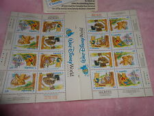 Disney Canada Post Stamps True Story of Winnie The Pooh English French New