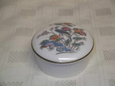 Wedgwood KUTANI CRANE Lidded TRINKET BOX Pot Fluted Sides
