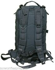 BLACK ASSAULT PACK - LARGE Survival EDC BUG OUT BAG Doomsday Prepper MOLLE PREP