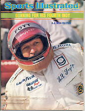 Sports Illustrated 1975 A.J. FOYT Indianapolis INDY 500 Auto Racing NO LABEL