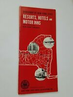 Vintage 1958-59 Directory Of New York State Resorts Hotels & Motor Inns Booklet