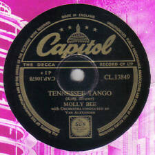 MOLLY BEE - Tennessee Tango / The Kids Who Pay 78 rpm disc (A++)
