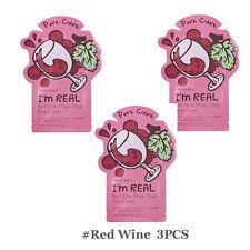 Tonymoly I'm Real Mask Sheet Red Wine Pore Care Skin Korea Cosmetics-3PCS