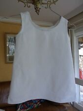ANCIENNE CHEMISE Coton Blanche FILLE T 4/5a ANNEES 40 GIRL COTTON SHIRT 4/5yrs