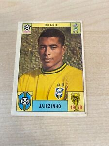 PANINI MEXICO 70 ORIGINAL BRASIL JAIRZINHO STICKER RED-BLACK BACK