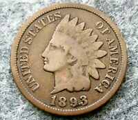 UNITED STATES 1893 ONE CENT, INDIAN HEAD