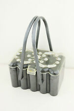 Vintage 1950s Grey Clear Lucite & Rhinestone Box Purse Handbag Bag