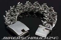 Drachenkopf Armband mit 22 Dragon Heads Mammut-Größe XXL extra schwer Edelstahl