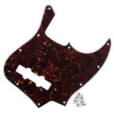 Nuevo 4Ply Marrón Caparazón De Tortuga FD Jazz Bass de 4 Cuerdas Pickguard arañazos Plate