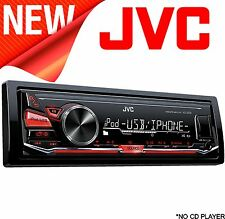 JVC KD X230 Auto Estéreo Receptor de medios digitales Frontal USB AUX FM/AM Iphone Android