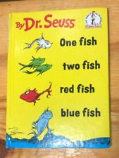 1988 Dr. Seuss One Fish Two Fish Red Fish Blue Fish Hardcover Book