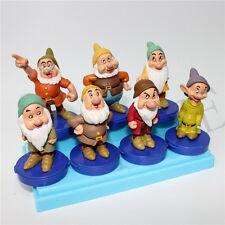 Lot of 7 Snow White SEVEN 7 DWARFS  FIGURE Rubber Figurines Vintage Wholesale