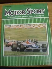 Aug-1982 MOTOR SPORT MAGAZINE: SETTIMANALE AUTOMOBILISMO Giornale Vol LVIII No.8 - outst