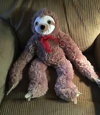 "Plush 3 Toed SLOTH Hanging 19"" Tags Stuffed Animal Toy Floppy"