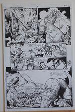 TIMOTHY TRUMAN original art, GUNS of the DRAGON #3,pg #5, T-rex, Dinosaurs, 1998