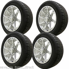 "4 20"" Silver Alloy Wheels PickUp Tyres 6x139 Mitsubishi L200 Ford Ranger 4x4"