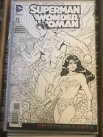 SUPERMAN WONDER WOMAN #25 ADULT COLORING BOOK B&W SKETCH VARIANT COVER 2016 DC