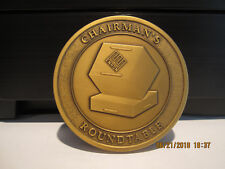 VERY RARE--Enron Chairman's Roundtable Medallion--One of 50--Cast in Bronze