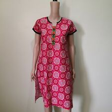C779 - Pink Almirah Red and Pink Indian-style Dress with High Slit