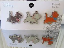 Disney Loungefly The Aristocats Marie Berlioz Toulouse Enamel 3 Pin Set NEW