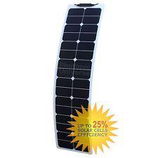 50W Panel Solar Flexible Estrecho etilenotetrafluoretileno para autocaravana, Camper Camioneta, barco, yate, RV