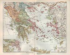 Landkarte map 1906: ALT-GRIECHENLAND. Europa Korinth Ägäis