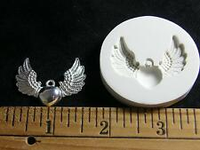 Winged Heart Polymer Clay Mold (#MD1025)